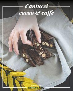 La ricetta semplice per preparare i cantucci al cacao e caffè, una variante dei classici biscotti toscani, dove alle mandorle vengono aggiunte nocciole, noci pecan, ciocciolato ed espresso.