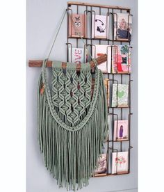 Macrame muur opknoping 'Pine Grove Green' (sold out)
