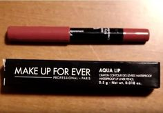 Make Up For Ever Mini Sample Aqua Lip Lip Pencil! Got this little guy back in my Sephora sample gift bag at the february soiree it works well with quite a few of my lip colours too! Lip Colours, Lip Pencil, Makeup Forever, Makeup Addict, Sephora, February, Aqua, Make Up, Lipstick
