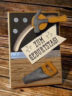 Stampin'Up! Stempelset Hammer! Framelits Werkzeugkasten Sliderkarte Unvergleichlich Urban