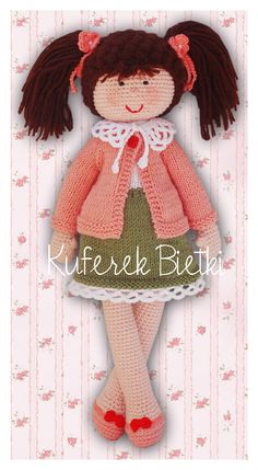 Kuferek Bietki: Firletka - lalka wykonana na szydełku/ Firletka, Gehäkelte Puppe/ Firletka - hand crocheted doll