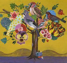 Tudo que voa... Como a imaginação! Essa é a grande inspiração do Verão 2013 da Fábula. Os pássaros estão presentes em muitas estampas da coleção. E nós partimos numa pesquisa das mais belas imagens deles. Como essa do ilustrador Olaf Hajek. Não é linda? <3