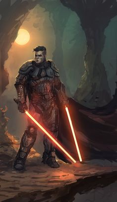 Jedi and Sith by Peter Oritz Star Wars Fan Art, Star Wars Concept Art, Star Wars Jedi, Star Wars Rpg, Star Wars Pictures, Star Wars Images, Cyberpunk, Jedi Sith, Sith Lord
