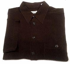 Pal Zileri of Italy- Brown Sheer Rayon Summer Fashion Shirt- size L