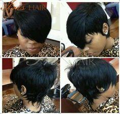 #repost ❤️❤️The hair cut is so cool! Love the side bangs! #inspiration #shorthair #haircut #hairstyle #cute #evawigs