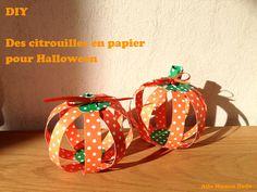 DIY citrouille papier paper pumpkins