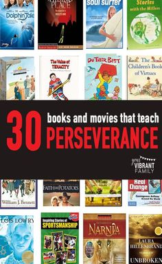 Looking for great books and movies to share with your family? We all want to teach our kids about how to persevere through hard times, and these inspirational stories are perfect examples of people who faced triumphed through trials. You'll love this book and movie list!