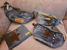 Super Hip Fanny Pack Denim Upcycling jeans de haute qualité | Etsy Jean Crafts, Fanny Pack, Blue Jeans, Denim, Etsy, Fashion, Key Pouch, Belt, Top