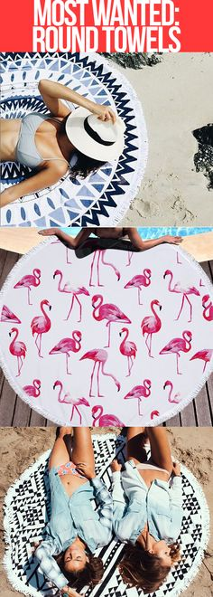 Welcome to the new era of beach towels. Our ROUNDIES are revolutionizing beach daze - it just makes sense to make towels round! Our towels are HUGE at 5 feet in diameter: Easily fits you and your bestie for laying out #SquadGoals the whole crew can fit for parties and picnics Leave no bum behind on the sand ;) Easy tanning - no need to rotate your towel, just move your body! We use LUXE MICROFIBER towel material: Super soft Dries quickly High absorbency to keep you dry and light enough t