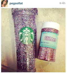glitter crafts are so fun! #diy #glitter #starbucks cup! #crafts #doityourself #project