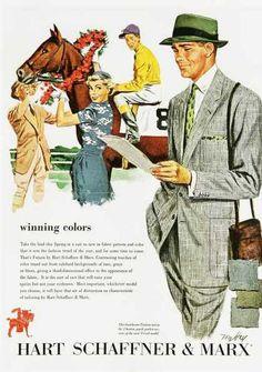 Hart Schaffner  Marx menswear advertisement, 1950s.