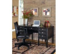 HOME OFFICE DESK WITH STORAGE-HOME OFFICE-CARLYLE