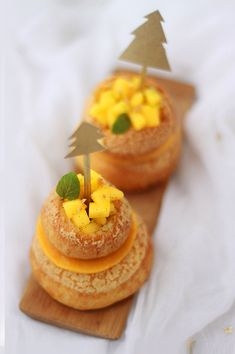 Religieuse vanille & mangue