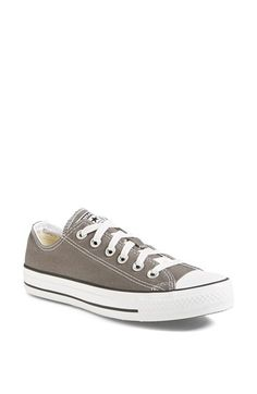Converse Chuck Low Sneaker in grey at Nordstrom Grey Converse, Converse Sneakers, Girls Sneakers, Converse All Star, Canvas Sneakers, Chuck Taylor Sneakers, Me Too Shoes, Top Shoes, Chuck Taylors