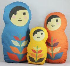Matryoshka Russian Nesting Doll Pillow Set