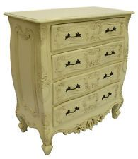French Style huge chest of drawers designer painted bedroom furniture storage