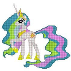 MLP Princess Celestia perler bead pattern by indidolph on deviantART