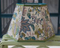 ahhh, to die for: Chartreuse and Teal Lampshade Lamp Shade Paul by lampshadelady