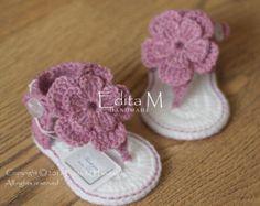 Crochet sandalias bebé sandalias gladiador botitas de bebé