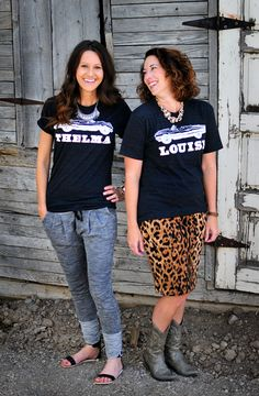 www.flatstoflipflops.com Thelma  Louise Tees @kelleygraylee we need these!!!!!!