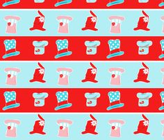 The Mad Hat Shop fabric by majoranthegeek on Spoonflower - custom fabric