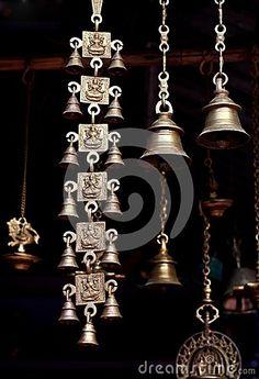 Ancient temple bells by Mangalika, via Dreamstime