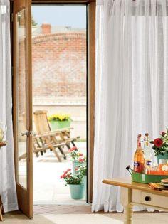 Sheer Linen Rod Pocket Curtains - Pair $59.95 - $99.95