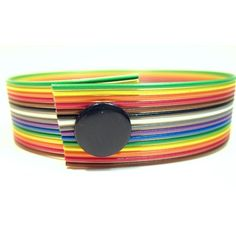 Custom Upcycled Rainbow Computer Ribbon Wire by clonehardware, $15.00.  I own this one. :)