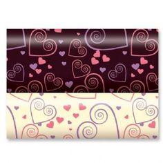 Hearts - Chocolate Transfer Sheet