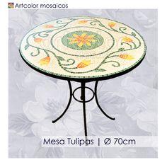 Ateliê Artcolor mosaicos: Mesas em mosaico - Modelos