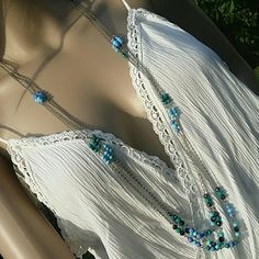 NWT Apt. 9 Long Necklace Triple Layered Teal Blue Gorgeous long necklace by Apt. 9 Triple Layered, silver chain,  teal,  turquoise,  green and hematite crystal color beads! Looks amazing! Apt. 9 Jewelry Necklaces