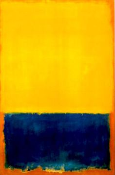 Mark Rothko, yellow and blue