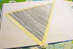 masking tape trick - via Skagerak