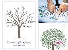 weddingstree, fingerabdruck, gästebuch, hochzeit