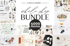 BUNDLE Whole Shop watercolor &design Illustrations, fonts, patterns, png images,. for photoshop and design programs. Visual Design, Web Design, Logo Design, Poster Design, Graphic Design, Design Shop, Creative Design, Modern Design, Have A Nice Life
