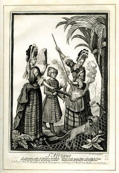 Four Continents / L'Afrique  Print made by Nicolas Arnoult  Date  1680-1700