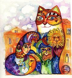 """""""Venice Cat"""" par Oxana Zaika"""