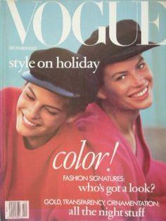 Vogue US Dec 1988. Carre Otis, Linda Evangelista.