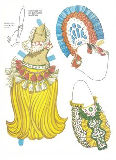 1984. TAHITIAN and HAWAIIAN DANCERS Paper Doll Book by Bernard Atkins for Great Creations. Printed in Hawaii. 6 of 6
