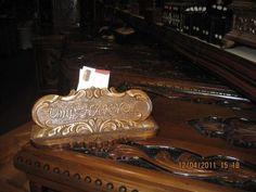 walnut carved name plate for desks
