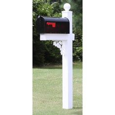 4EverProducts Mailbox with Post Included & Reviews | Wayfair Black Mailbox, Metal Mailbox, Mailbox Post, Mounted Mailbox, Wood Anchor, Sign System, Concrete Cement, Aesthetic Value, Old Tires