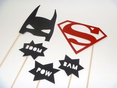 Photo Booth Props  Super Hero Set by ModPropsShop on Etsy, $15.00
