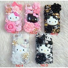 New Style Hello Kitty DIY Deco Kit For Cell Phone iPhone from ILoveCuteFashion.com