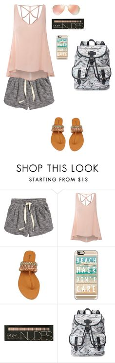 """""""Untitled #21"""" by mia-tox ❤ liked on Polyvore featuring H&M, Glamorous, Casetify, Candie's and Ray-Ban"""