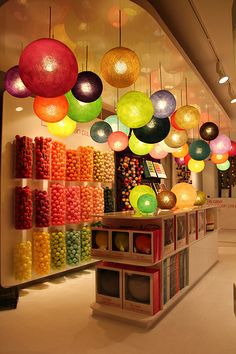 DIY: can put fabric over lanterns and paint balls in bases.