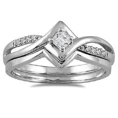 0.16 ct Top Princess Cut Diamond Engagement Ring 14KT SOLID White Gold Bridal #Jewelsbyeanda