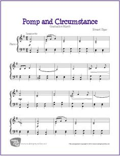 Pomp and Circumstance (Elgar) | Free Sheet Music for Piano (Graduation Theme)