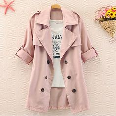 A 082612 z Slim Solid Color Bow Button Coat · MegaFashion · Online Store Powered by Storenvy Vintage Hipster, Looks Style, Style Me, Moda Fashion, Womens Fashion, How To Have Style, Jacket Buttons, Visual Kei, European Fashion