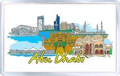 Acrylic Fridge Magnet: United Arab Emirates. Abu Dhabi