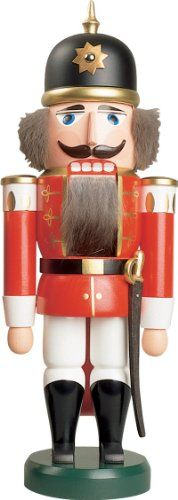 Nutcracker figure Christmas original Erzgebirge Seiffen soldier red 112051 NEW *** Want to know more, click on the image.